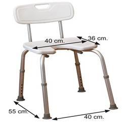 Cadeira de Banho com Abertura no Assento