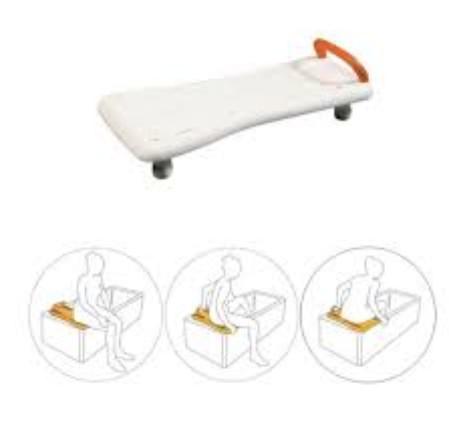 Prancha de Banheira Ajustável - Ajudas Técnicas - Produtos Ortopedia