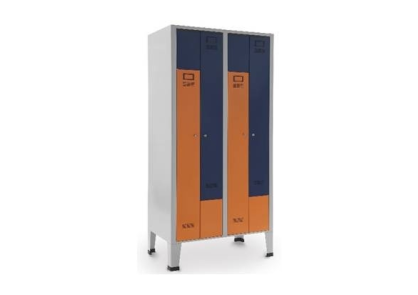 Armário vestiário quadrúplo em L - Mobiliário - Produtos Geriatria