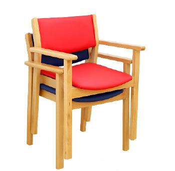 Cadeira Com Apoio de Braços Empilhável - Mobiliário - Produtos Geriatria