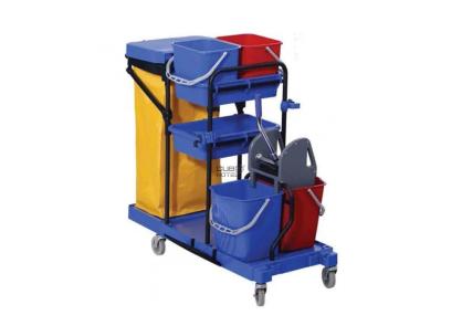 Carro Limpeza Multifuncional Piquete C/prensa - Acessórios Mobiliário Geriatria