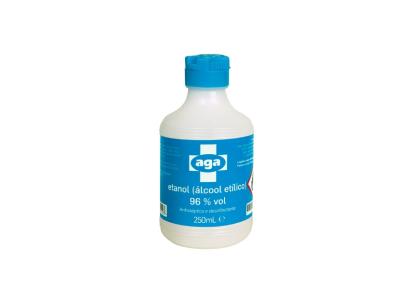 Álcool Etílico 96% (Etanol) 250mL - Consumiveis - Desinfetantes e galénicos