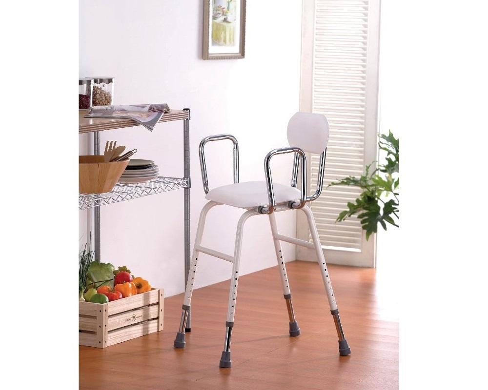 Cadeira Regulável em Altura com Braços - Ajudas Técnicas - Banho