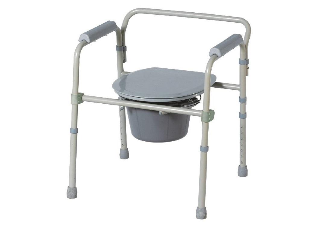 Cadeira sanitária dobrável e ajustável - Ajudas Técnicas - Banho