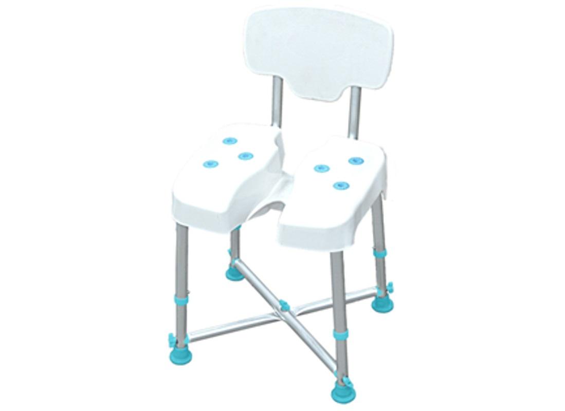 Cadeira de banho XL com ranhura central - Ajudas Técnicas - Banho