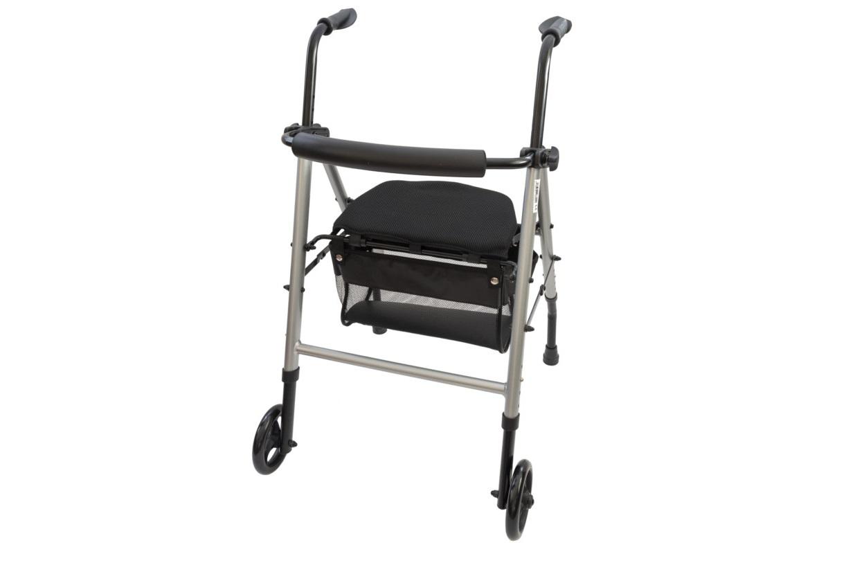 Andarilho com assento e cesto reguláveis - Andarilhos - Mobilidade