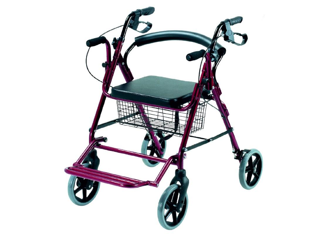 Andarilho e cadeira de rodas com cesto (2em1) - Andarilhos - Mobilidade