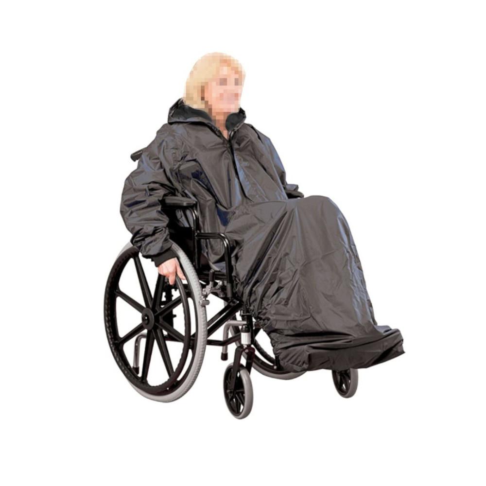 Capa de chuva impermeável com mangas - Cadeiras de Rodas - Mobilidade