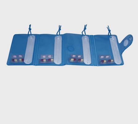 Caixa de comprimidos dobrável para viagem - Ajudas Técnicas - Medicação Unidose / Blisters de Medicação