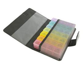 Caixa de comprimidos semanal com símbolos e caixa - Ajudas Técnicas - Medicação Unidose / Blisters de Medicação