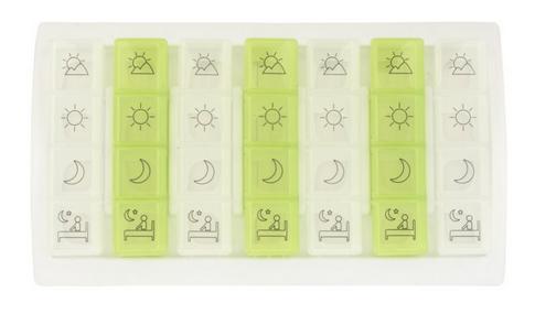 Caixa de comprimidos semanal com símbolos - Ajudas Técnicas - Medicação Unidose / Blisters de Medicação