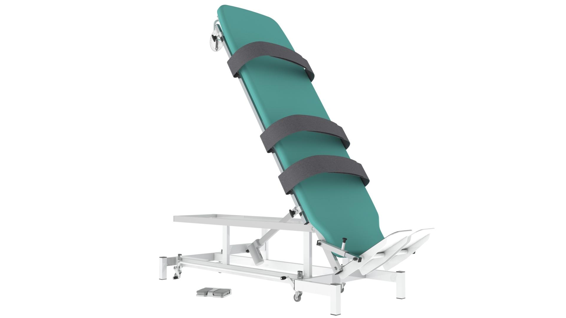 Plano Inclinado Elétrico Altura Fixa (Mesa Verticalização) - Fisioterapia - Reabilitação